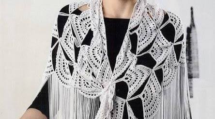 Estola crochet flecos