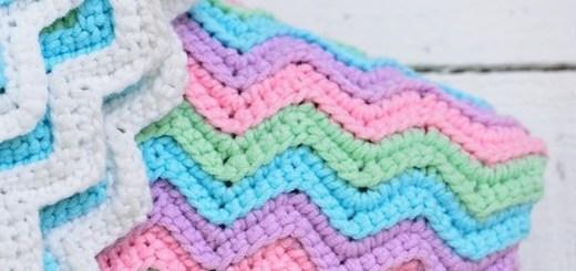 Manta crochet para bebe