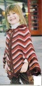 Poncho crochet niñaZig zag