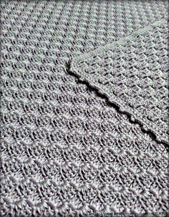 Puntada para manta a crochet