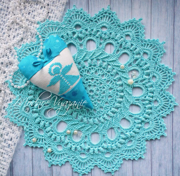 Tapetes redondos tejidos a crochet