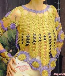 Top calado crochet