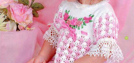 Vestidito crochet niña