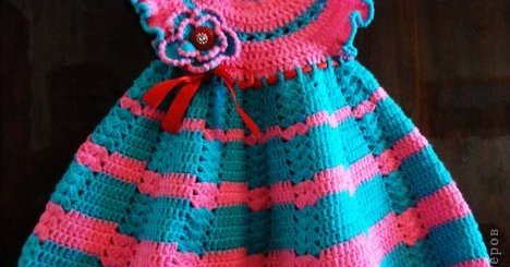 Vestido crochet niña