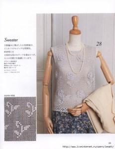 Esquemas de blusas a crochet