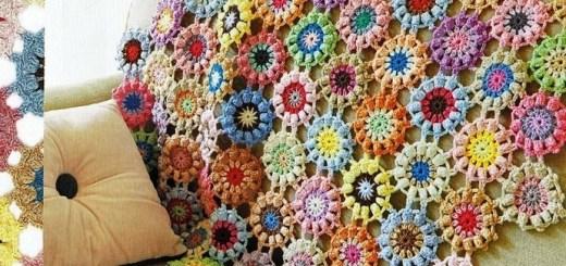 Manta de crochet para sofá