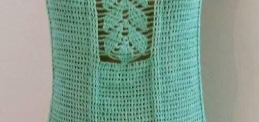 Blusa con escote hoja