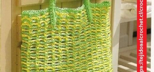 Bolsa Verde Crochet