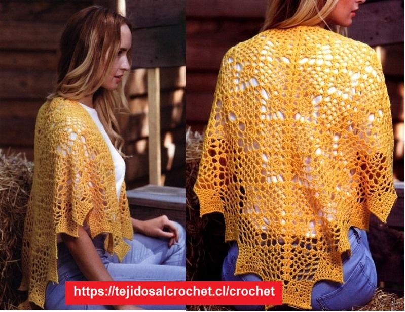 Capa Crochet Elegante