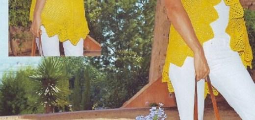 Chaleco sin Mangas Amarillo