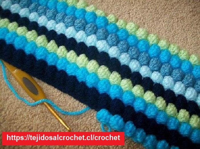 Colcha de Punto Crochet