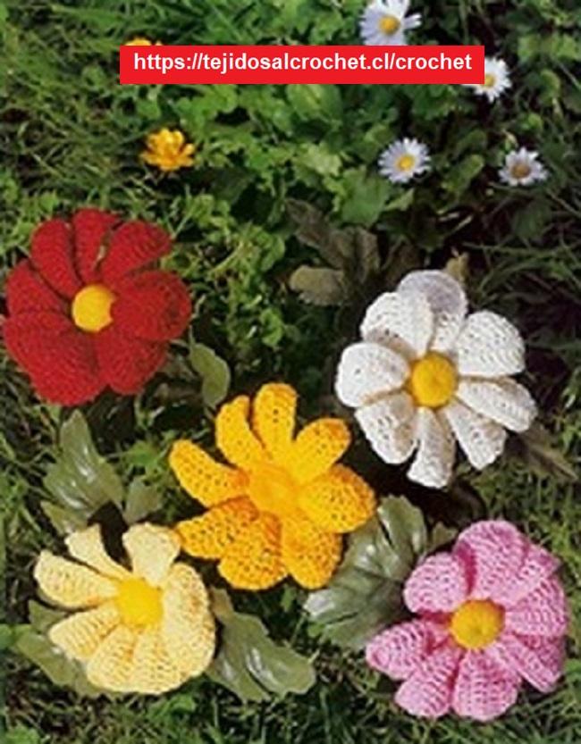 Flor Crochet Sencilla