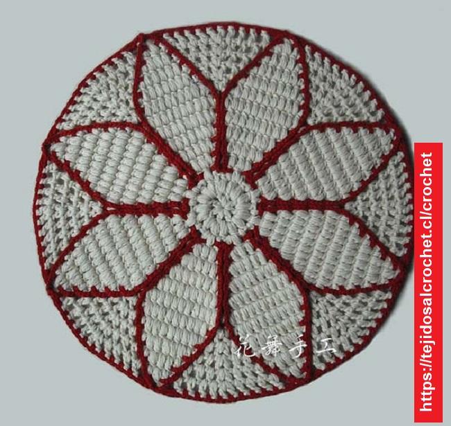 Mandala para Alfombra Crochet