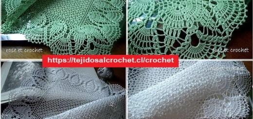 Puntilla Crochet para Mantel
