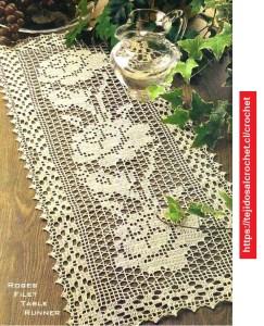 Rosas en Tapetes Crochet