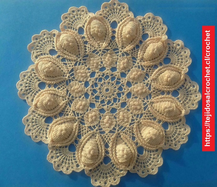 Tapete Crochet Relieve