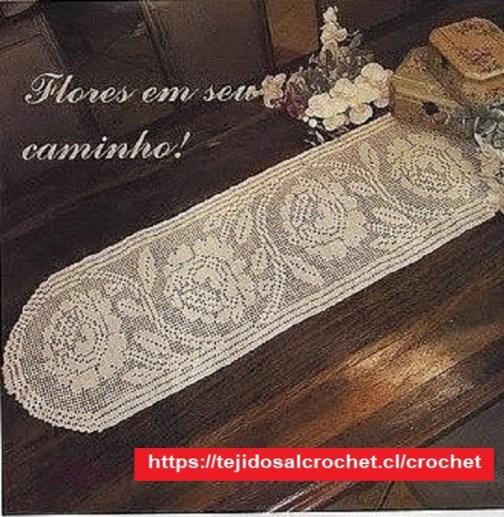 Tapete Rosas Crochet