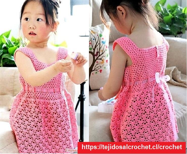 Vestido Niña Crochet Coqueto