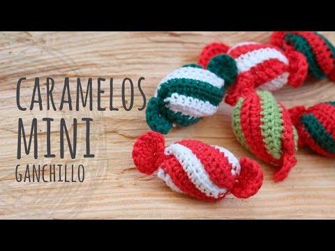 Mini Caramelo Navidad Ganchillo Como Hacer Crochet Paso A Paso - Navidad-ganchillo
