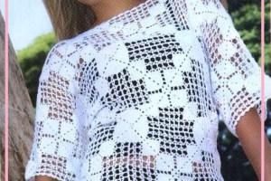 Blusas tejidas a gancho patrones
