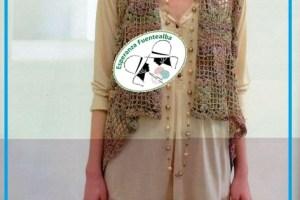 Chaleco tejido crochet para dama