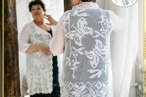 Chalecos tejidos a crochet