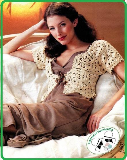 Chalecos tejidos crochet patrones