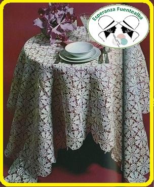 Manteles a crochet patrones