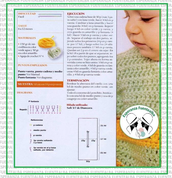 Ponchos tejidos para niños1