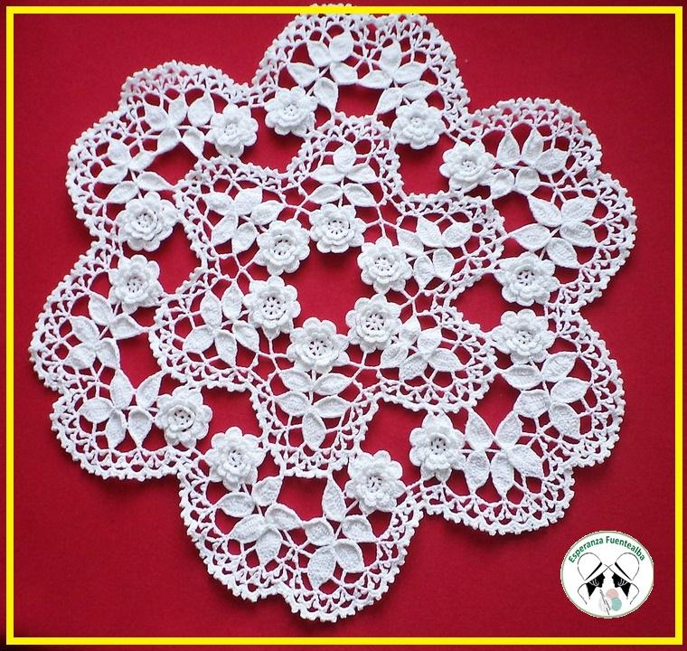 Flores en crochet patrones. Un vídeo imperdible paso a paso