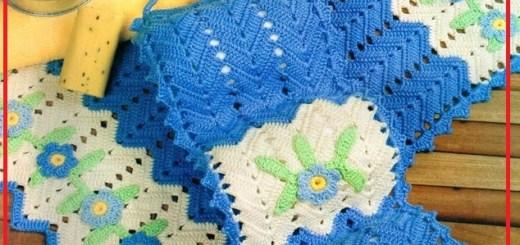 Juego de baño crochet patrones