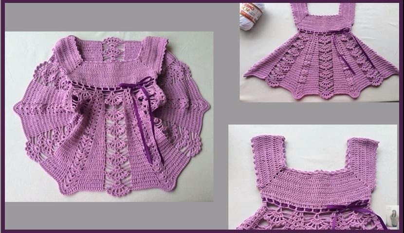 Vestidos de niña en crochet1