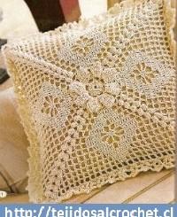 Almohadones crochet cuadrados