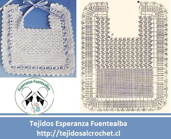 Baberos crochet patrones2