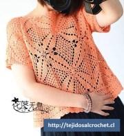Blusa calada crochet. un diseño extraordinario de blusa calada verano