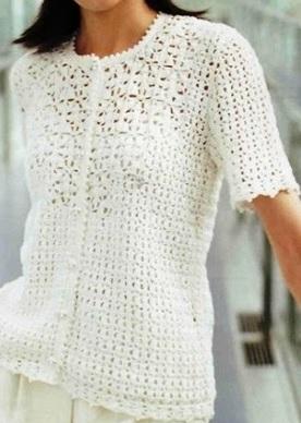 Blusa en crochet Jacinta