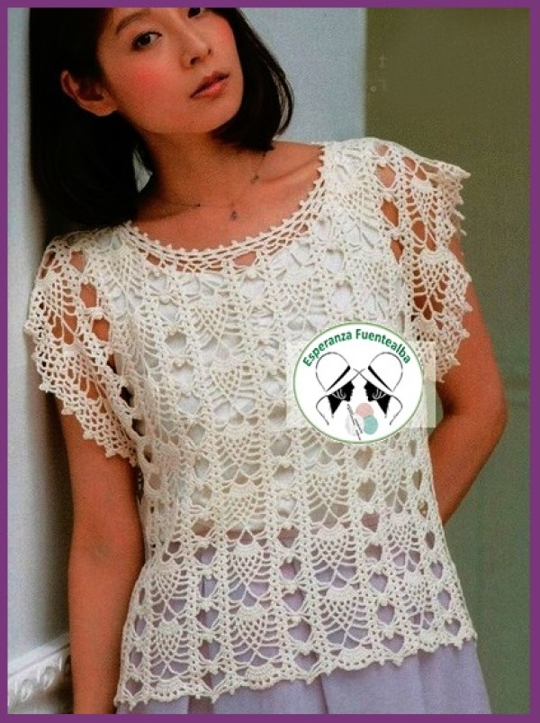 Blusas tejidas a gancho de moda