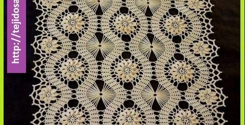 Carpetas cuadradas en crochet