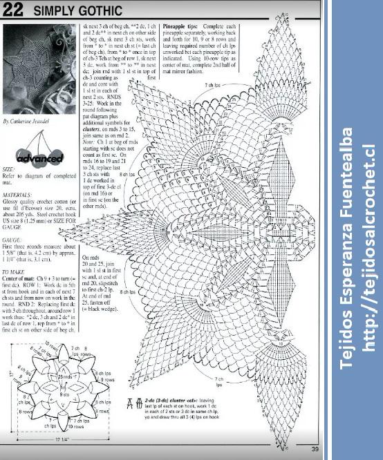 Carpetas tejidas a crochet1
