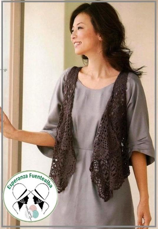Chalecos tejidos al crochet. Una selección para disfrutar de patrones