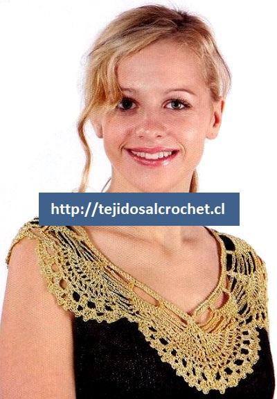 Cuellos tejidos a crochet 3