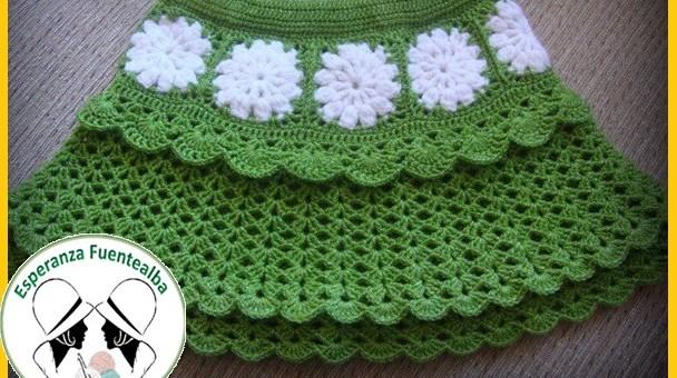 Faldas tejidas a crochet para niña