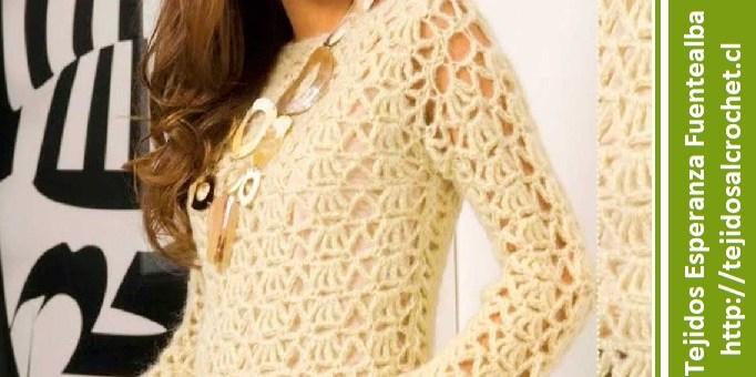 Jersey largo crochet
