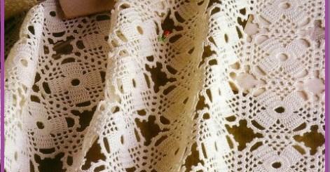 Mantel tejido a crochet cuadrado