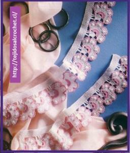 Orillas de servilletas tejidas