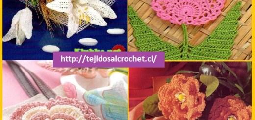 Patrones de flores a crochet