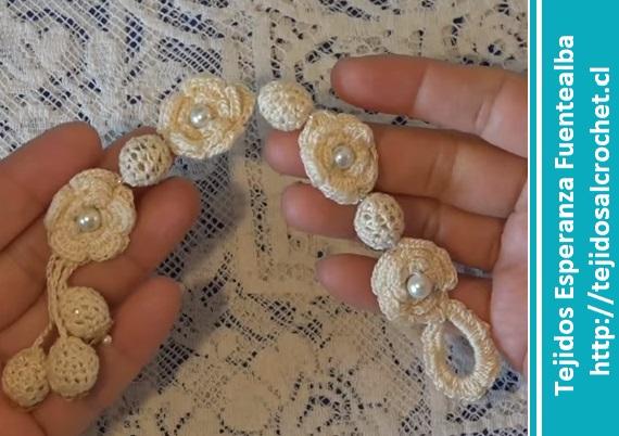 Pulsera crochet abalorios