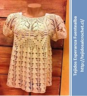 Blusas sencillas para hacer. Una blusa muy fácil de tejer con gancho