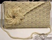 Bolsas tejidas a crochet. Elegante esquema de bolso a ganchillo
