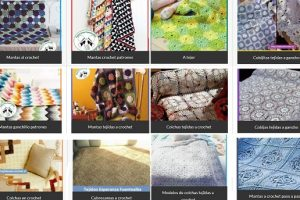 Colchas tejidas al crochet